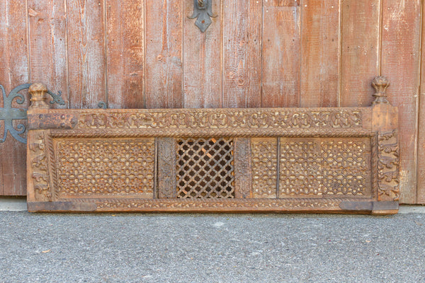 18th Century Architectural Carved Balcony Panel