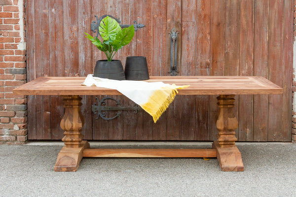 Reclaimed Farmhouse Teak Dining Table