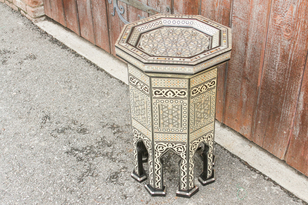 Syrian Marquetry Octagonal Side Table