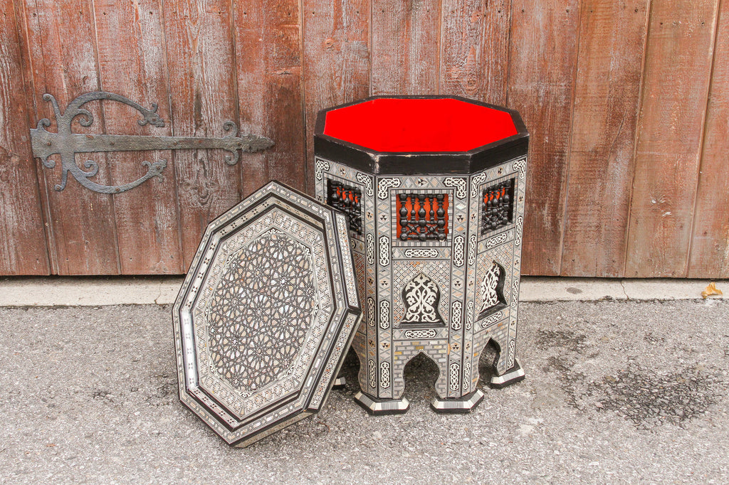 Mihrab Syrian Mother-Of-Pearl Table
