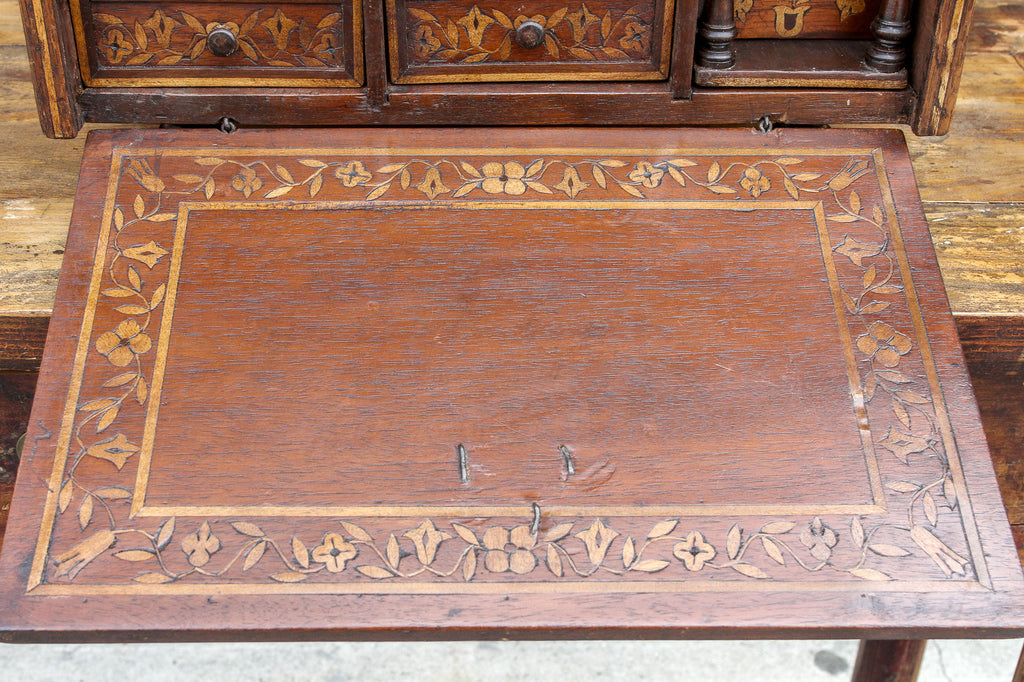 Spanish Inlaid Marquetry Bargueno