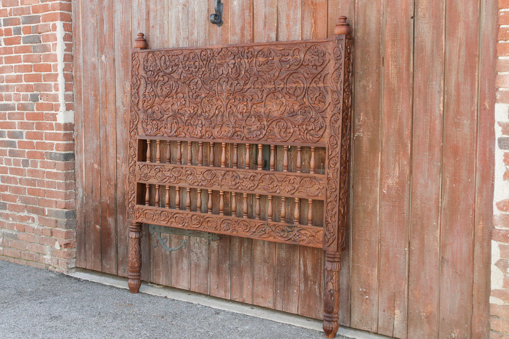 Carved Indo French Amarante Headboard