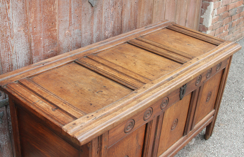 Early 18th Century English Oak Coffer