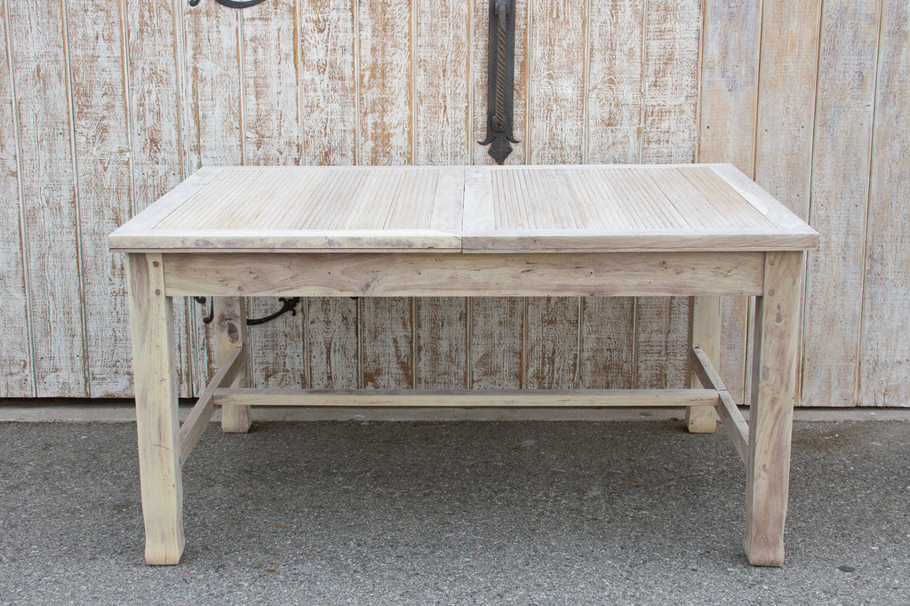 Mid-Century Bleached Wood Extending Dining Table
