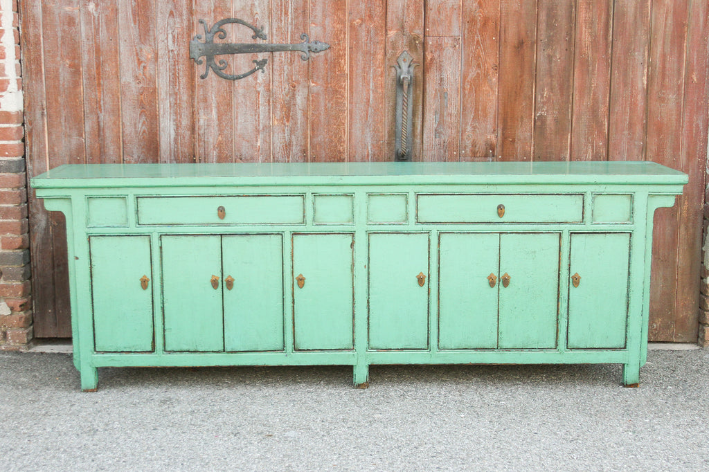 Appealing Seafoam Green Lacquered Enfilade