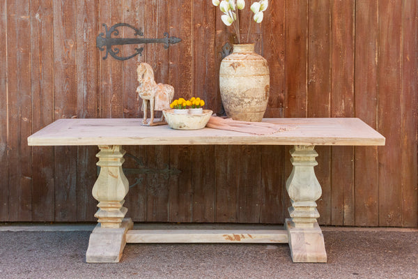 Bleached Chic Farmhouse Dining Table