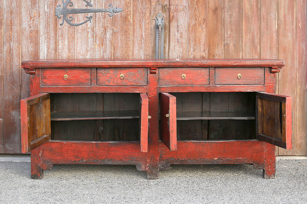 Antique Shanxi Red Buffet Sideboard