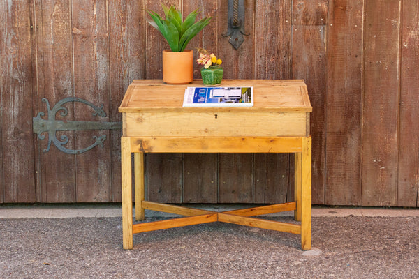 19th Century English Lap Desk on Wooden Stand