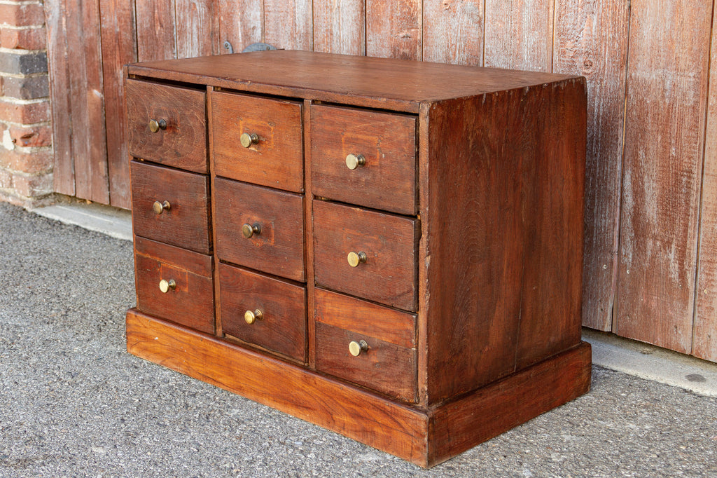 Petite Colonial Teak Chest of Drawers