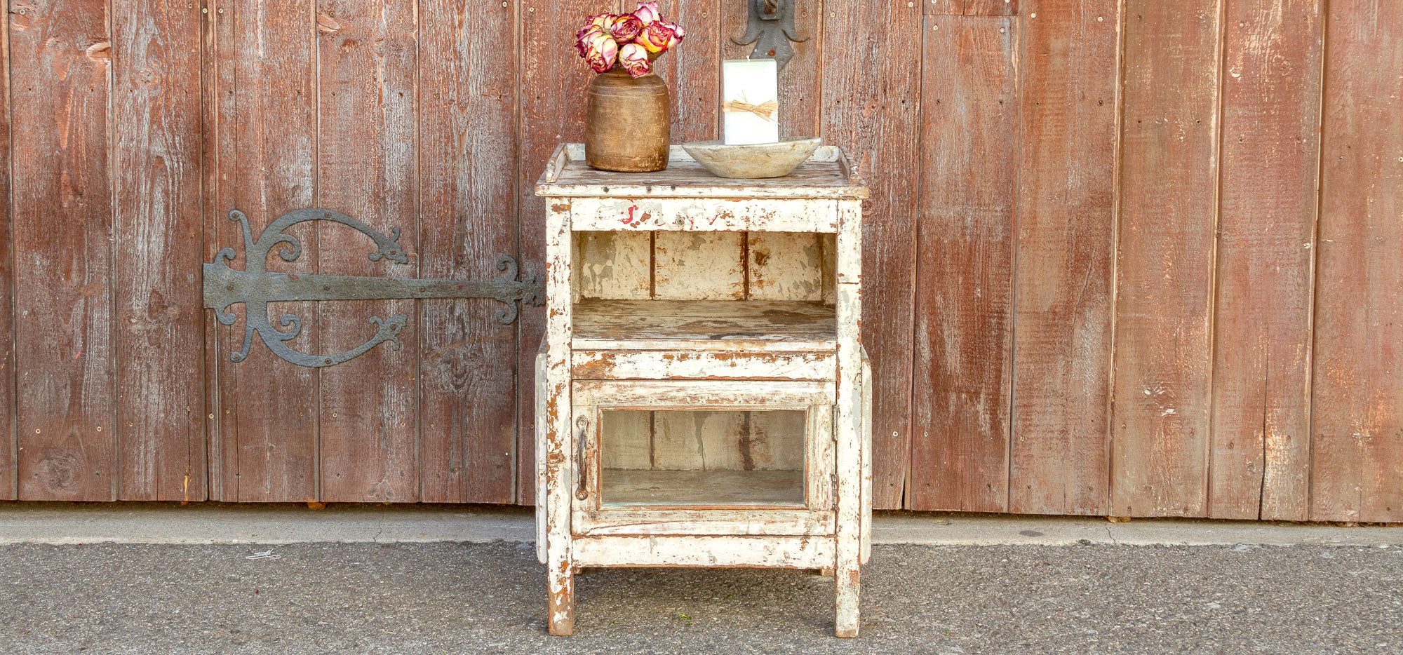 Rustic French Bedside Table