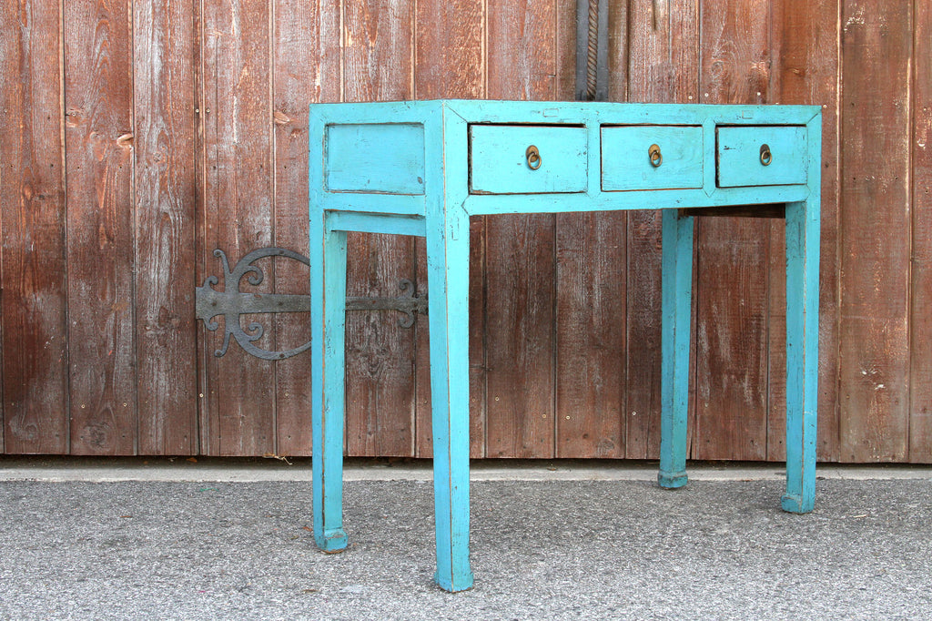 Contemporary Turquoise Asian Console