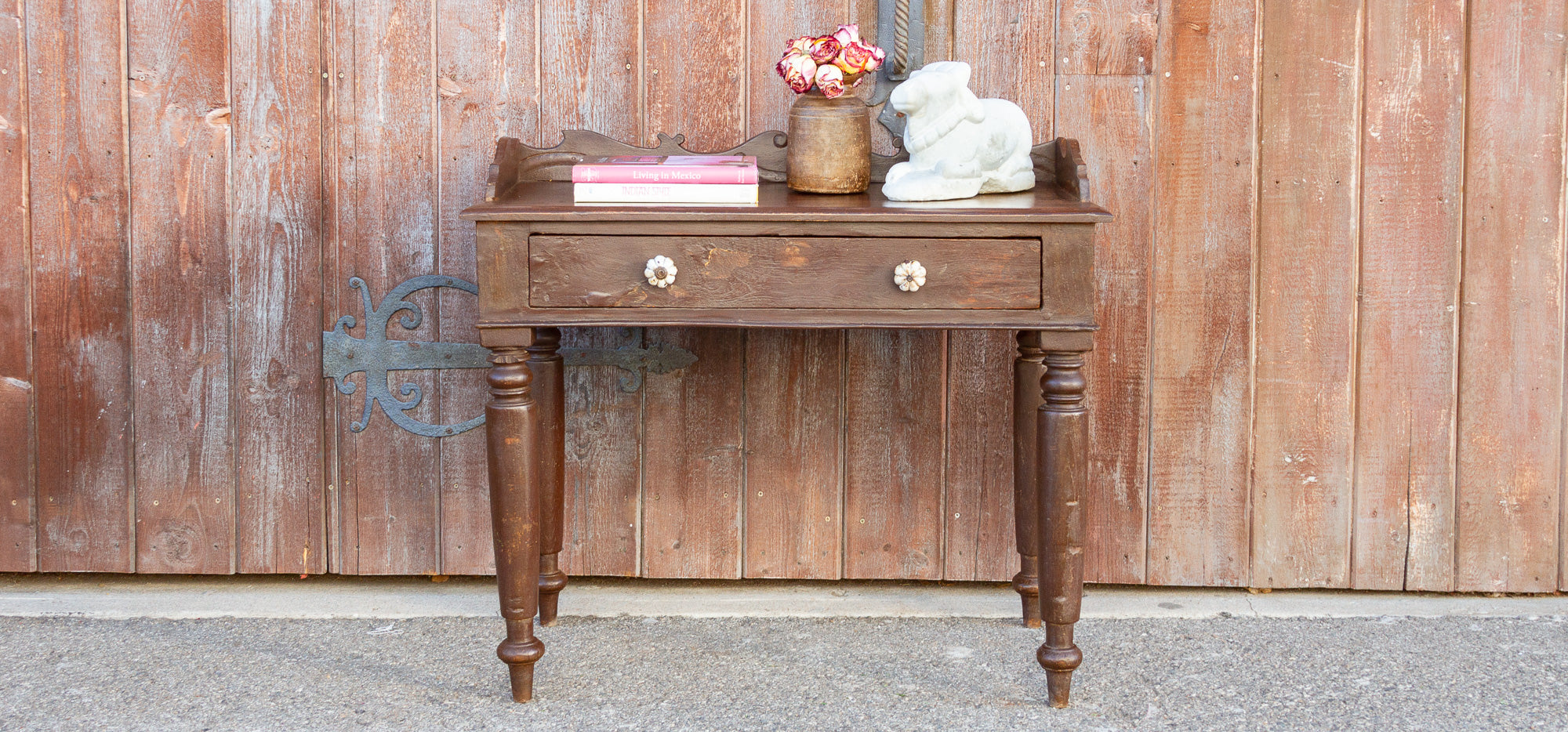 Painted Colonial Writing Table