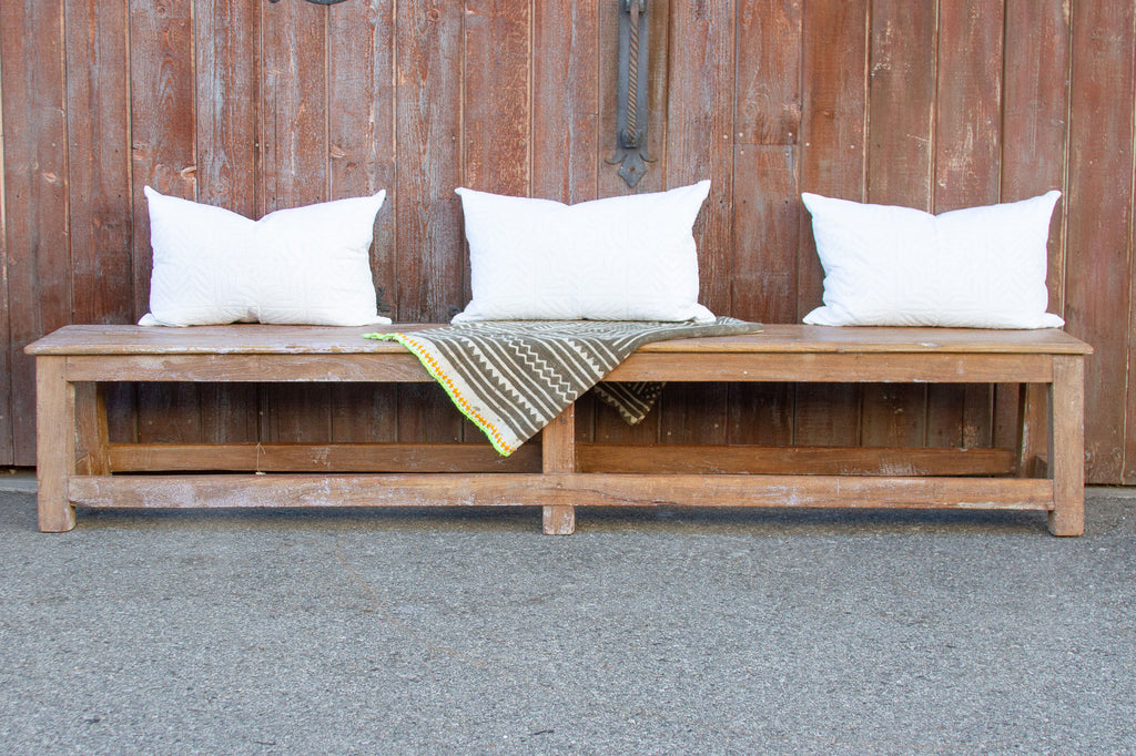Long Scandinavian Antique Farmhouse Bench