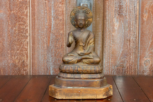 Early 20th Century Brass Seated Buddha