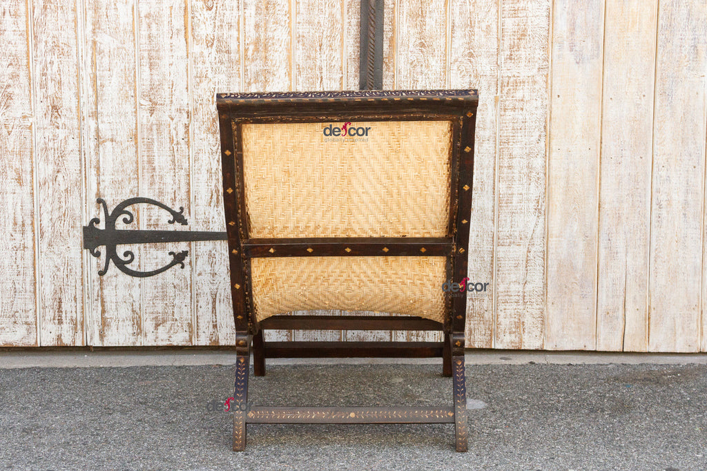 Anglo Indian Bone Inlay West Indies Chair