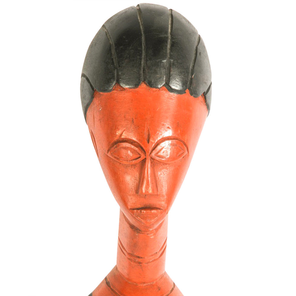 African Carved Woman Statue