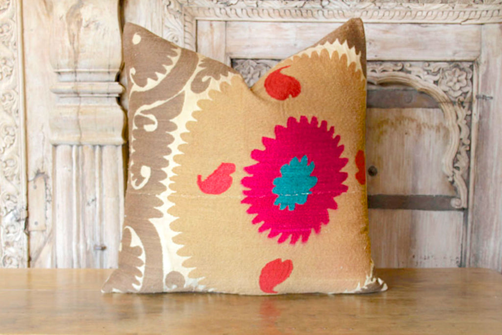 Pair of Shrishti Suzani Square Pillows