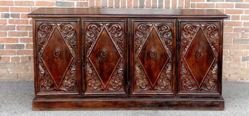 Sevilla Diamond Carved Sideboard