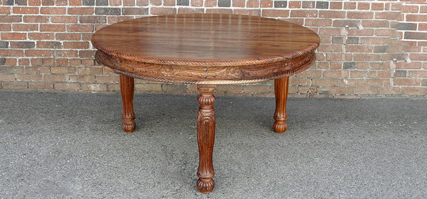 Anglo Indian Round Carved Table