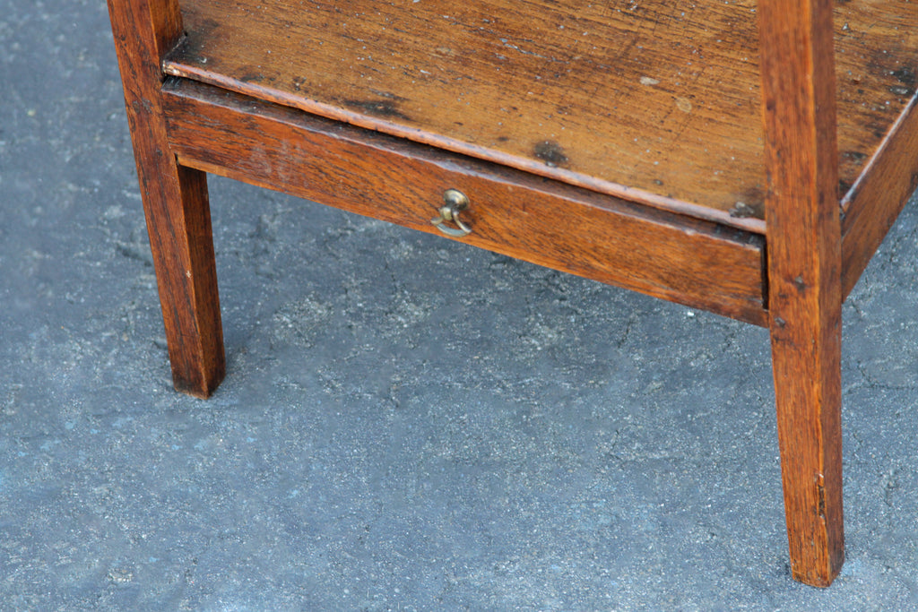 Antique English Elm End Table