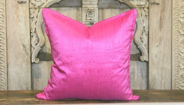 Fuschia Small Dupion Silk Pillow