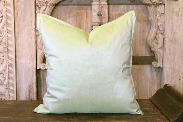 Light Green Small Dupion Silk Pillow