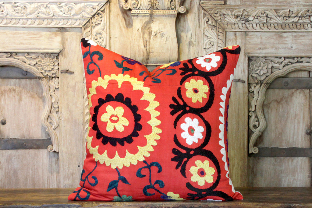 Hamraa Suzani Square Pillow