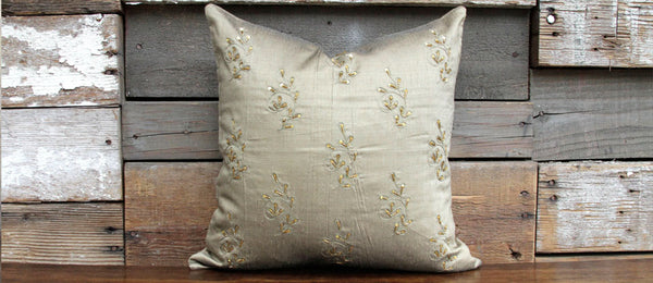 Cafe Gold Ornament Kasoti Pillow