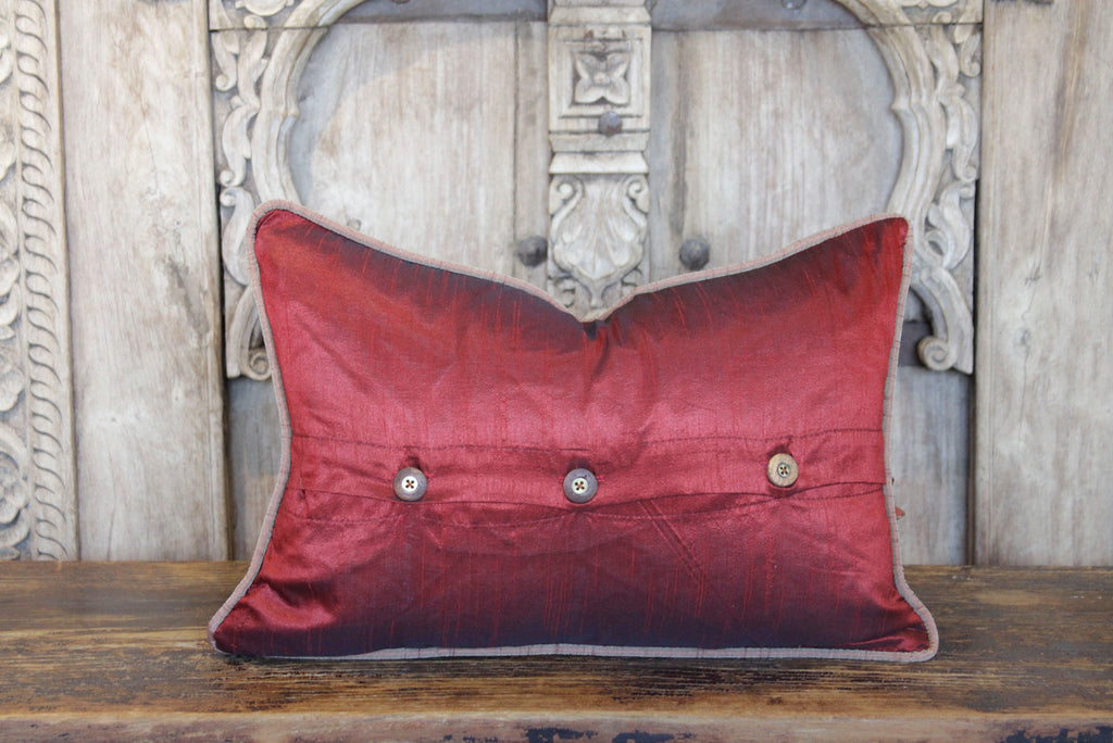 Red Peacock Sage Lumbar Pillow