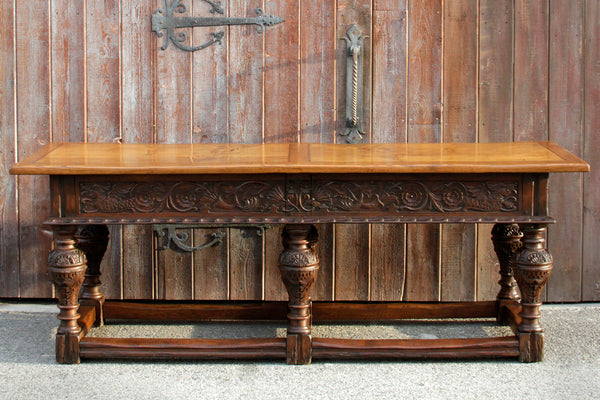 Extraordinary English Oak Tavern Table