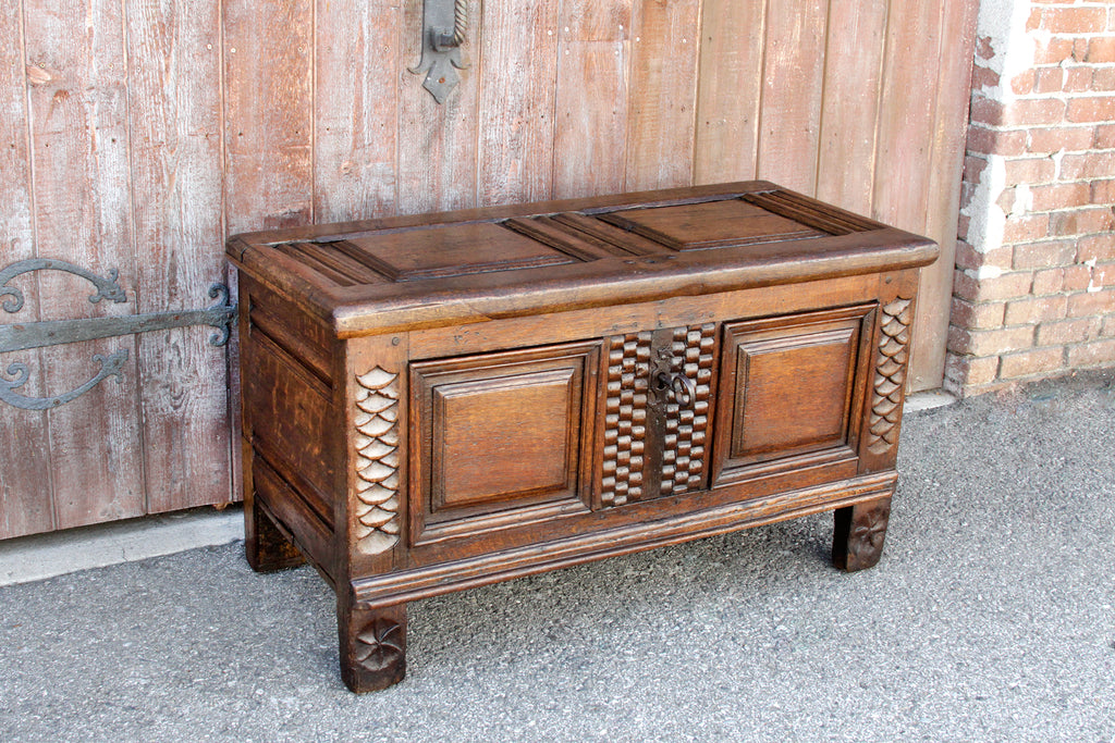 18th Century Carved Oak Chest