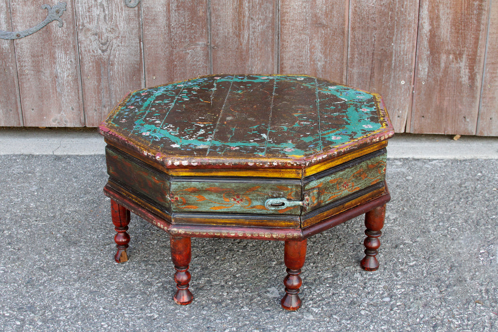 Antique Painted Bajot Table