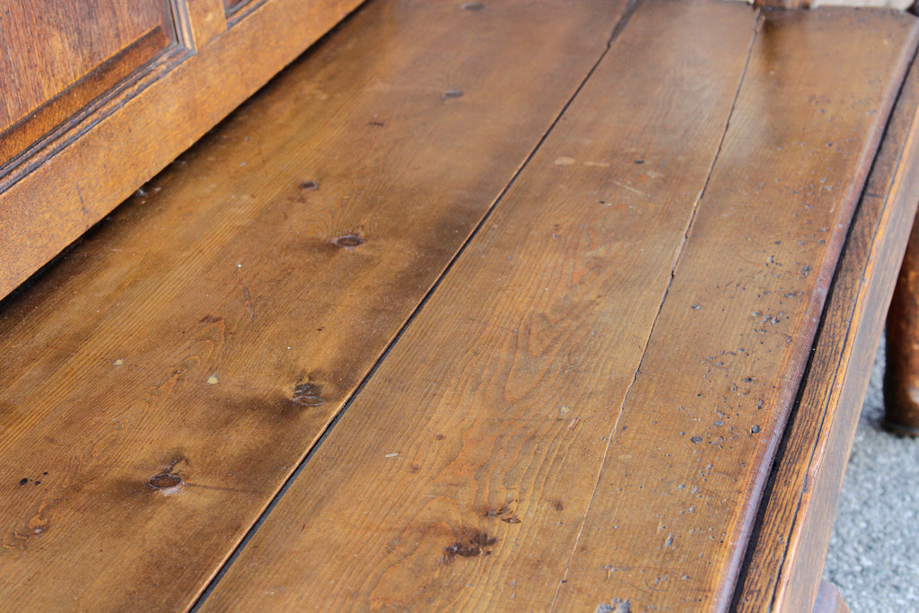 18th Century English Oak Church Bench