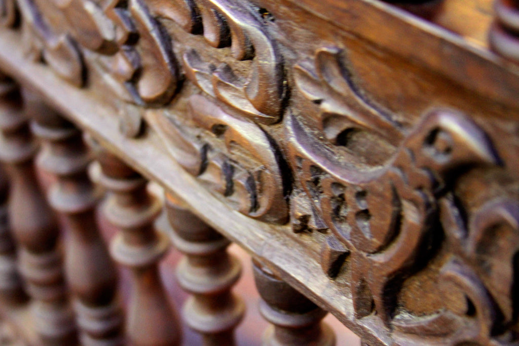 Beautifully Carved Capilla Bench