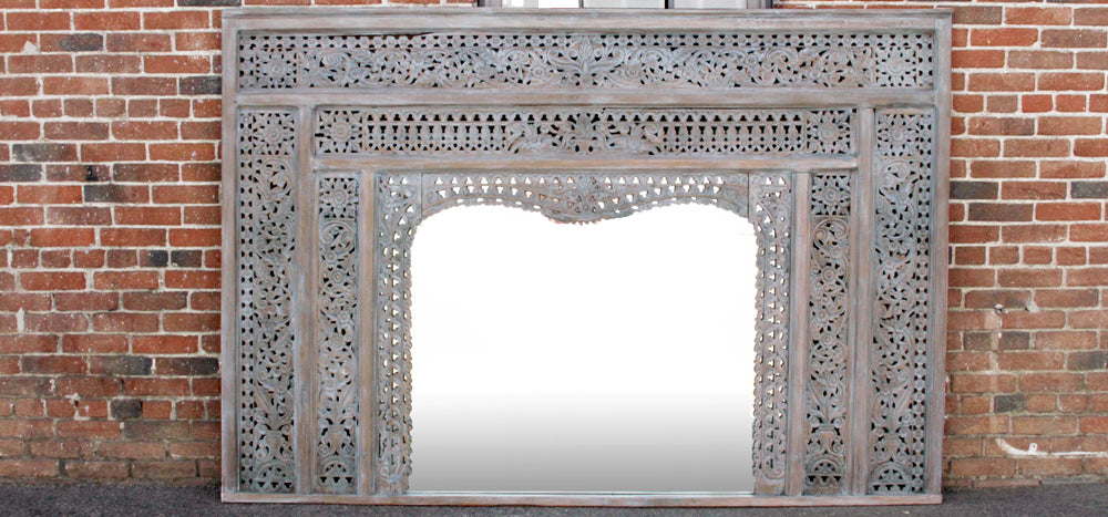 Antique Balinese Arch Mirror