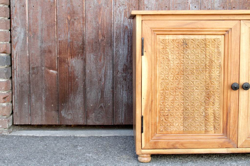 Finely Carved Moorish Cabinet
