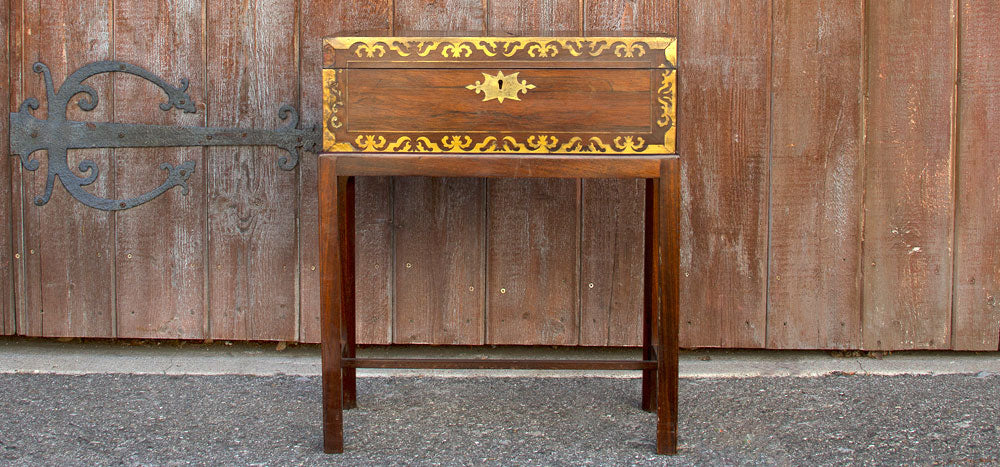 Antique English lap desk in Rosewood