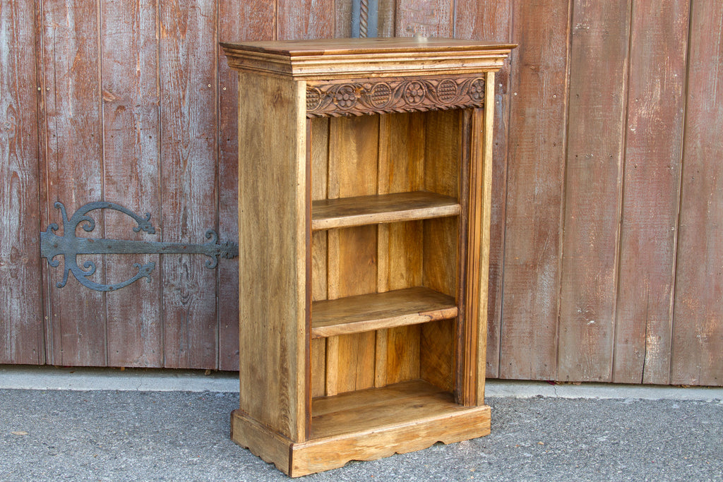 Charming Teak Carved Bookcase