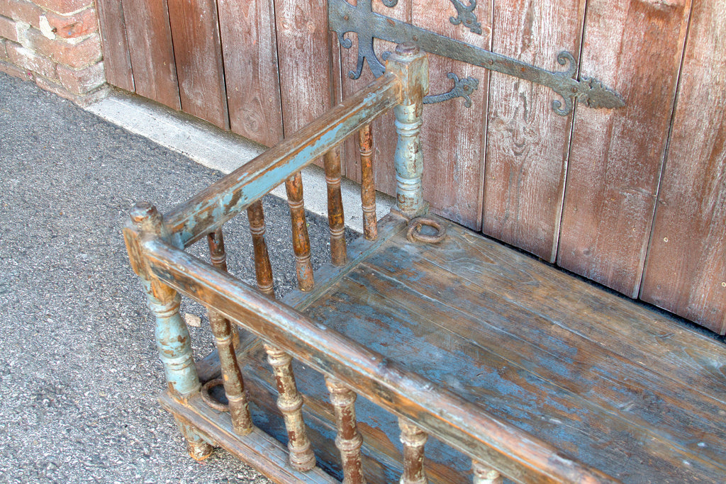 Antique Blue Painted Swing