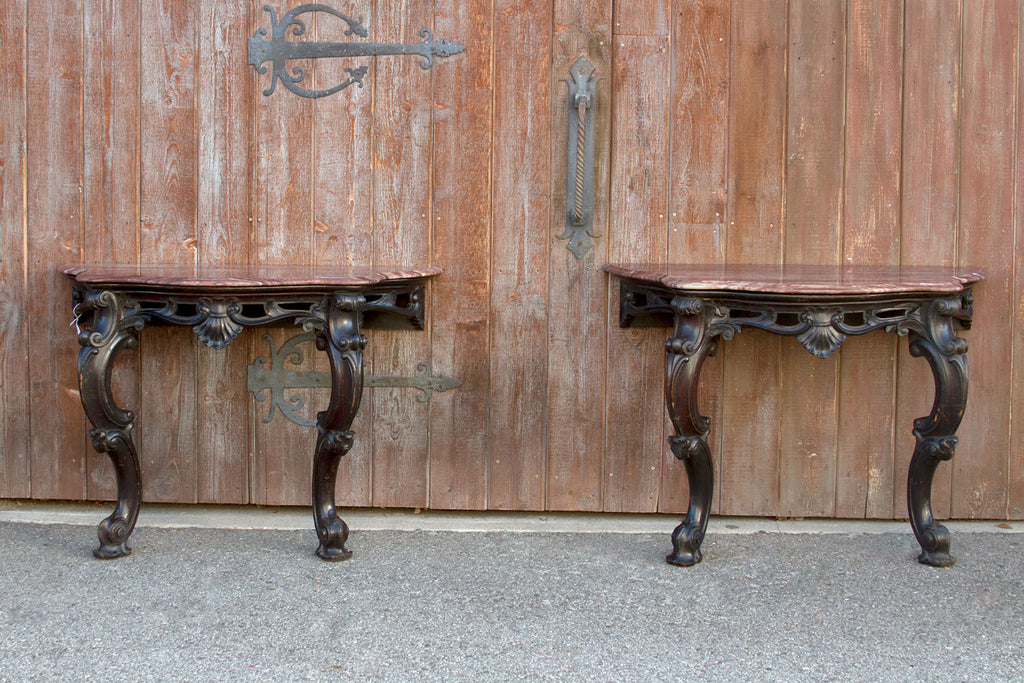 Ebonized Anglo Indian Console Table