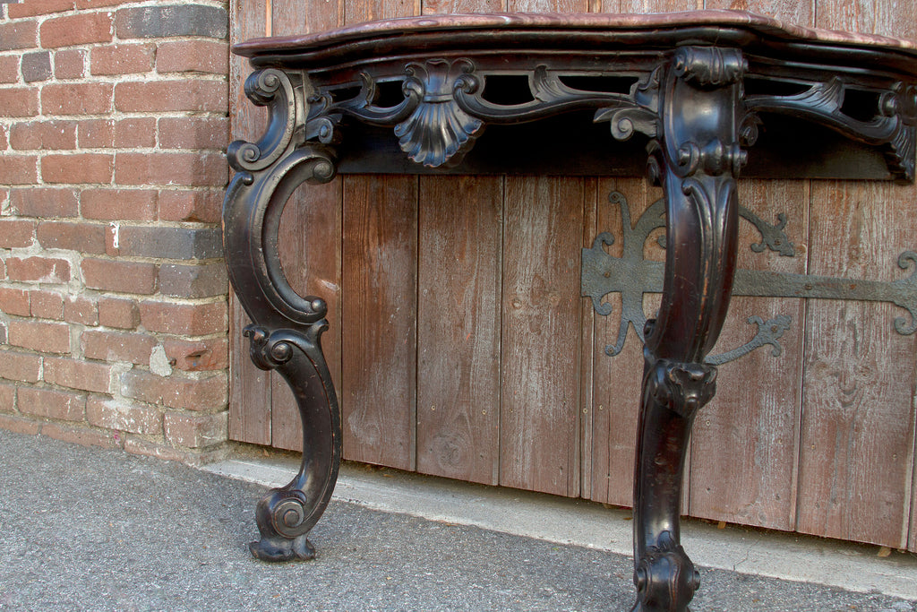 Ebonized Anglo Indian Console Tables