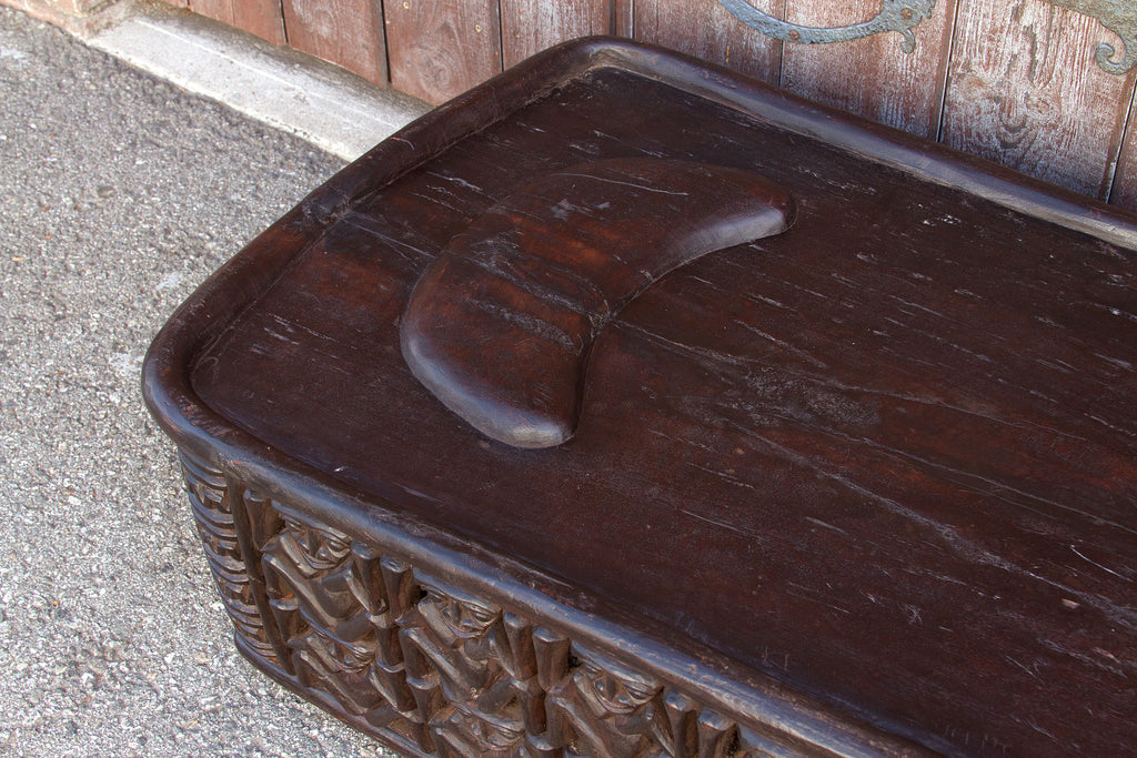 20th Century Bamileke Single Carved Bed