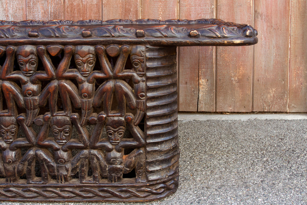 Long Adorn 20th Century Bamileke Carved Bed
