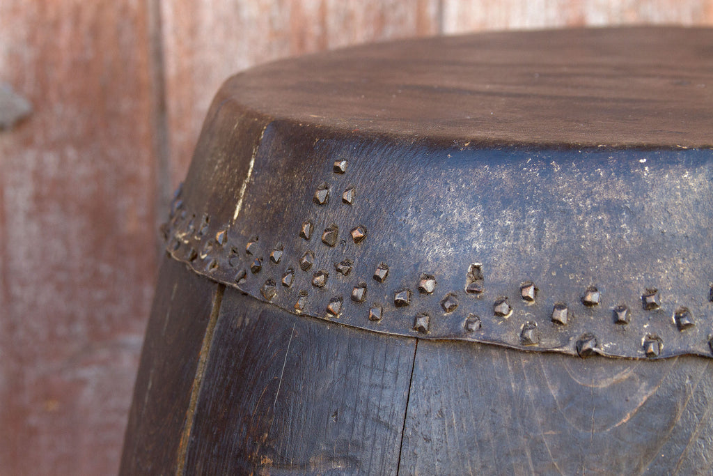 Small Antique Hebei Drum