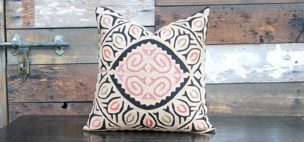 Ebony Jogi Rali Applique Pillow Cover