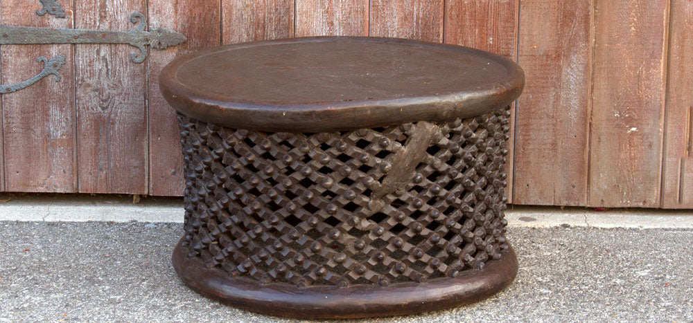 Antique Bamileke Tribal Carved Table