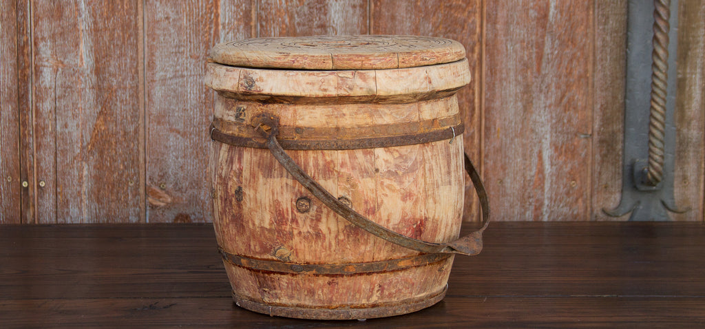 Antique Lidded Rice Container