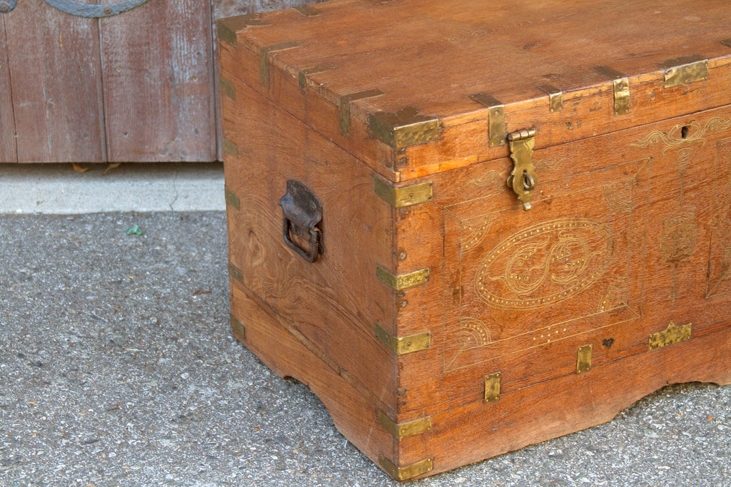19th Century Anglo Indian Dowry Trunk