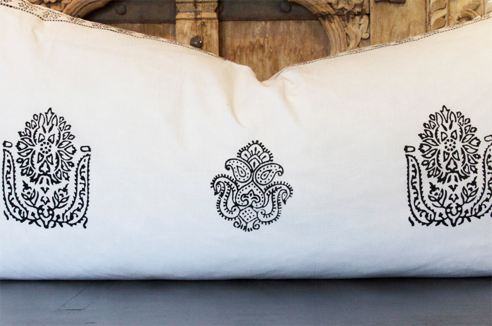 Block Print Euro Sham Body Pillow