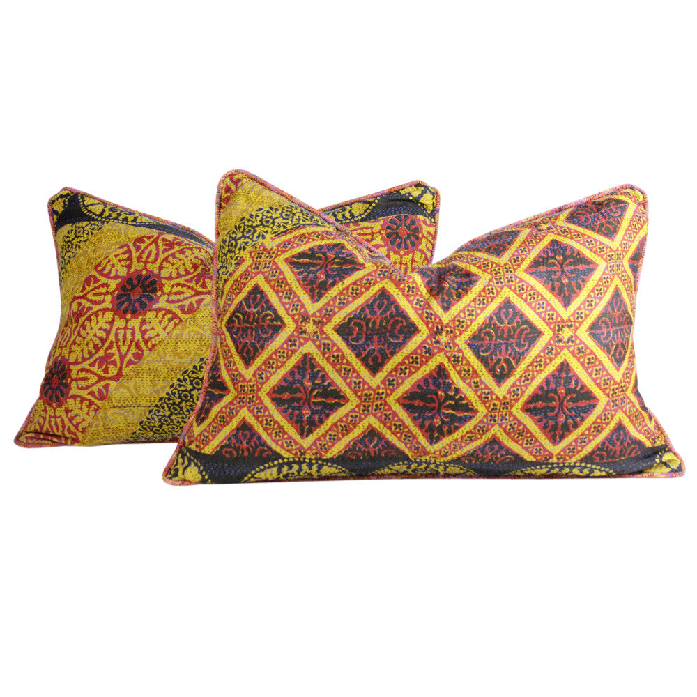 Sun Silk Kantha Pillow